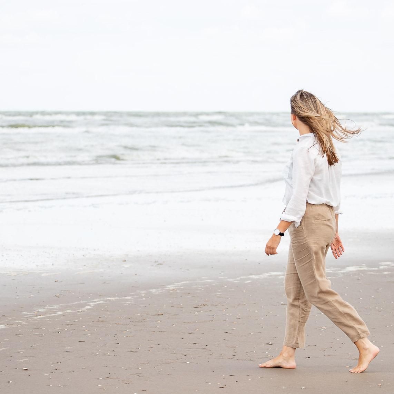 Amber Rosa wandelen strand personal branding
